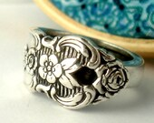 Silver Spoon Ring, Size 10, Distinction 1951