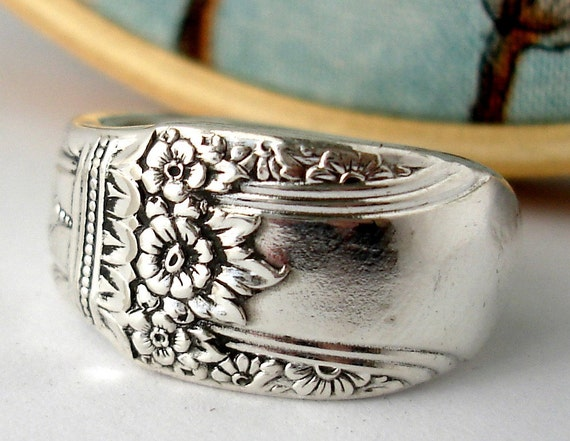 Silver Spoon Ring, Size 8, First Love 1937