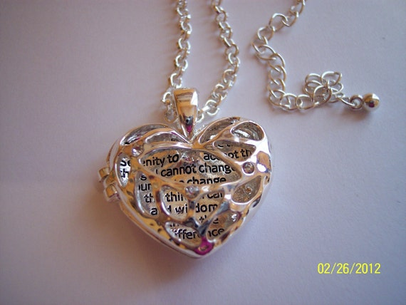 Serenity Prayer Locket