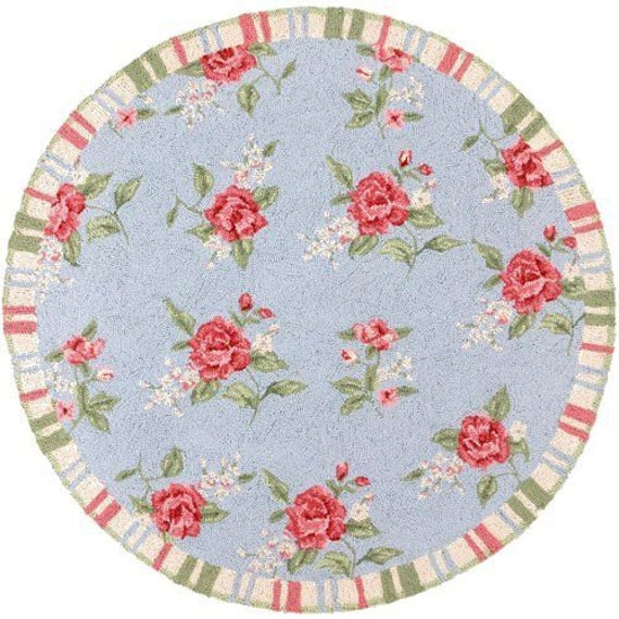 Items Similar To Shabby Blue Amp Pink Round Dollhouse
