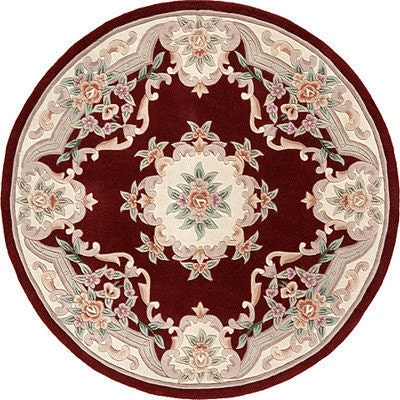 French Style Victorian Round Dollhouse Rug 5