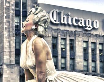 Marilyn Manroe in Chicago, fine art photo 8x10