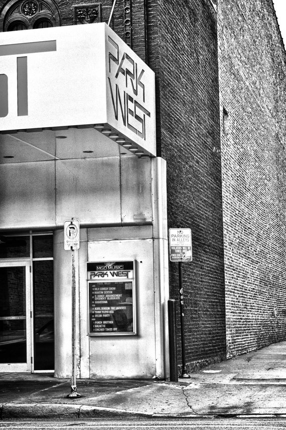 The Park West, Chicago black and white photograph 8x12