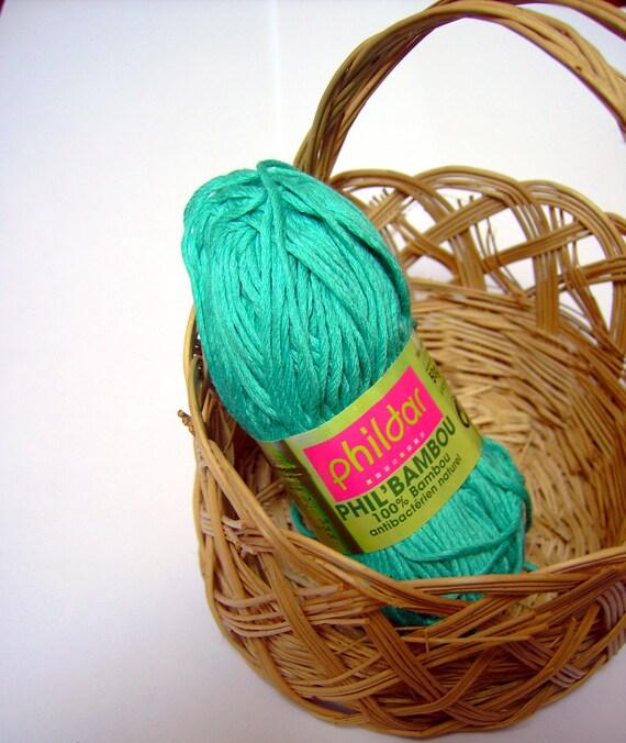 DESTASH SALE Phil Bambou Menthol - 50gm bamboo yarn