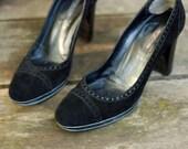 Vintage Italian Sergio Rossi Black Pumps - High heel, genuine leather, simple classic