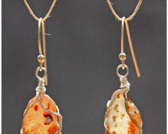 Radiant Carnelian Agate Earrings