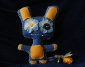 Gary the Lionheart Hand-Stitched Felt Plush Monster