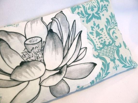 Organic Lavender and Flax Eye Pillow / Lotus Flower