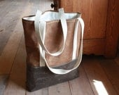 Wax Canvas Tote - Grocery Sack - Organic Cotton - Water Resistent