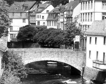 Black and White Bridge in Germany 8x10