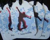 Teenage Skateboarder - Happy Birthday Gift Tags