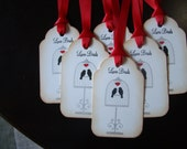 Love Birds tags - perfect for Valentines Day, Engagement Party or Wedding Wish Tree