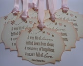 Vintage Inspired Baby Girl Shower Gift/Wish Tree Tags