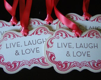Live, Laugh and Love Vintage-inspired Gift/Wish Tree Tags