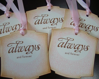 Always and Forever - Victorian Inspired Wedding Gift/Wish Tree Tags