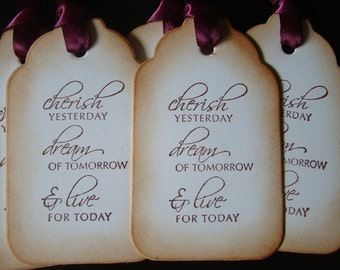 Cherish...Dream...Live - Vintage Inspired Gift/Wish Tree Tags