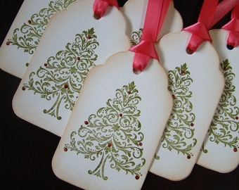 Vintage Inspired Christmas Tree Gift Tags