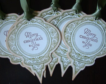 Merry Christmas to You - Vinatage Inspired Christmas Ornament Gift Tags