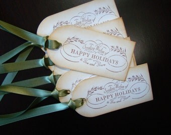 Sending Wishes of Happy Holidays to You and Yours - Christmas Gift Tags