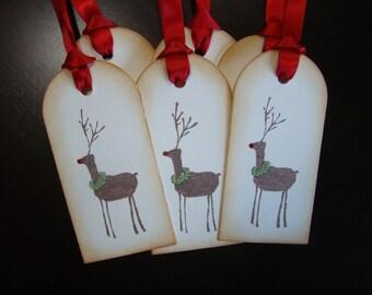 Rustic Reindeer Christmas Gift Tags