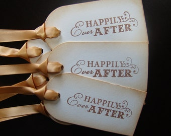 Happily Ever After - wedding wish tree/gift tags