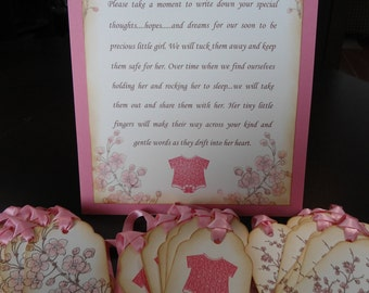 Customizable Wish Tree Instruction Sheet - (Baby Shower Sample shown)