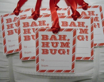 Bah Humbug Christmas Gift Tags - set of 6