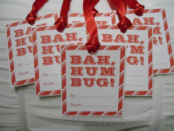 Bah Humbug Christmas Gift Tags - set of 6