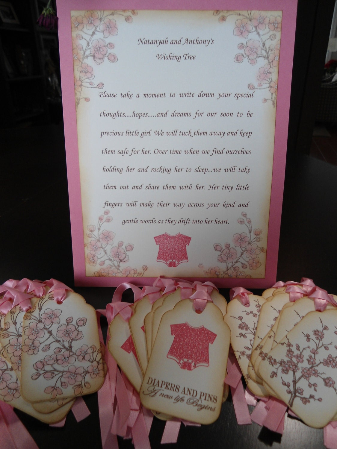 Baby Shower Wish Tree Poem http://www.etsy.com/listing/90483930/customizable-wish-tree-instruction-sheet