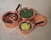Full Copper Pots, set of 3