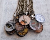 Antique Optometrist Lens Necklaces, Oddities Set of 13, Wholesale Jewelry, Wholesale Necklace