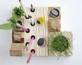 desk organizer - desktop Zen Garden - natural wood - original design by KarolinFelixDream