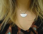Mayan Aztec Silver Necklace