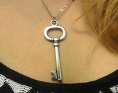 Silver Plated Key Necklace