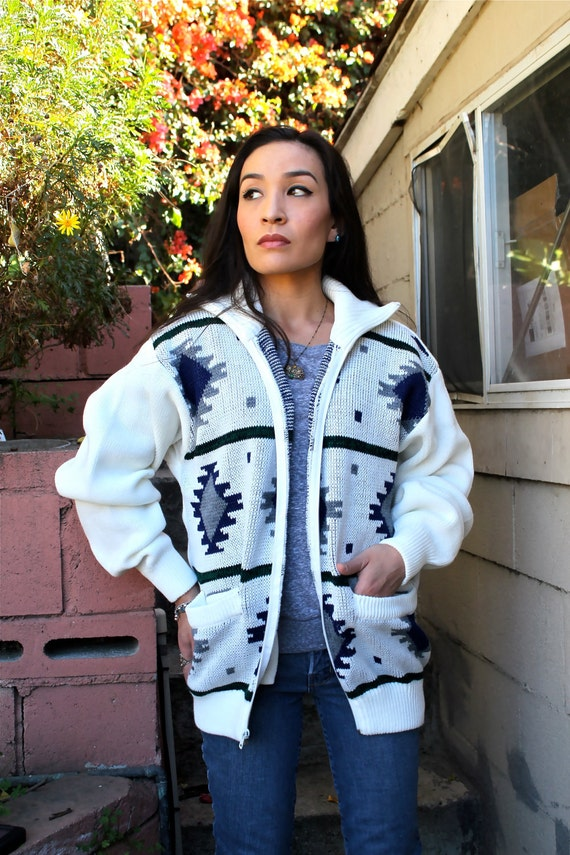 Southwestern Sweater - Graphic Sweater - Zip Up - sale