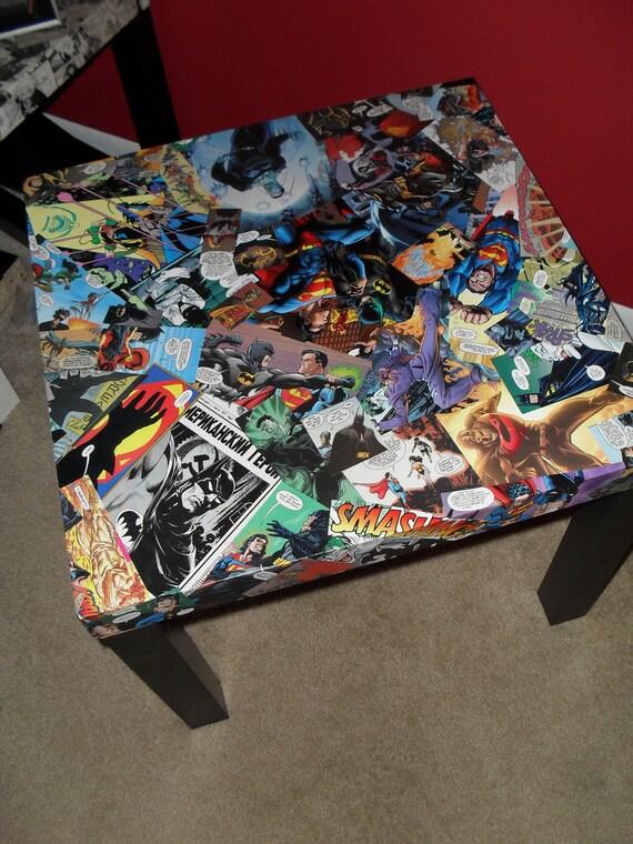 DC Comics Collage  table FREE SHIPPING Usa