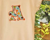 Applique Tee Shirt with Initial by Sew Jewell