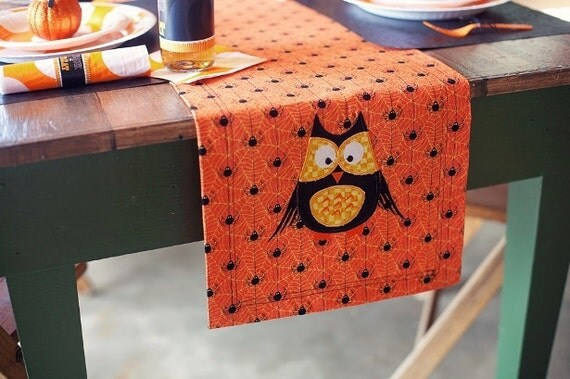 Owl Table Runner by Sew Jewell
