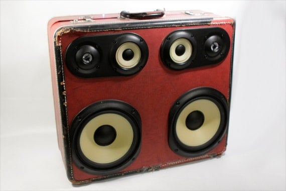 Vintage Suitcase Stereo Music Machine
