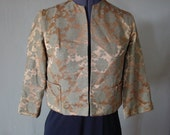 Gold Jacquard Sixties Jacket