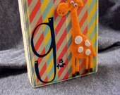 CUSTOM ORDER  g is for giraffe