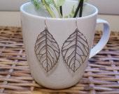 Emma - Silver Leaf Earrings