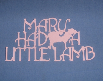 Mary had a Little Lamb,Mother Goose, nursery rhymes for baby shower, scrapbooking, invitations, birth announcements, decor