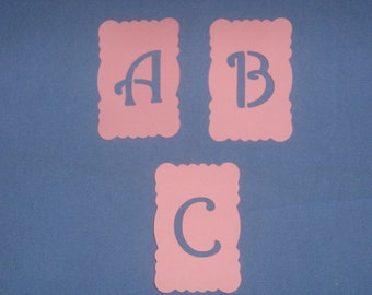 Die cut paper Alphabet  for baby shower, scrapbooking, invitations, birth announcements, decor