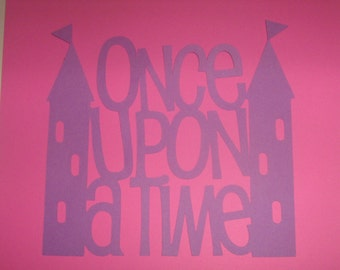 Princess Once Upon a Time cut out for nursery, birthday party, invitations