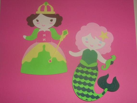 Princess,Mermaid, Fairy, Unicorn birthday party,puppet, banner, invitations