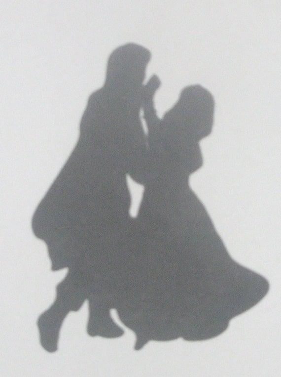 items similar to wedding silhouette disney princess snow