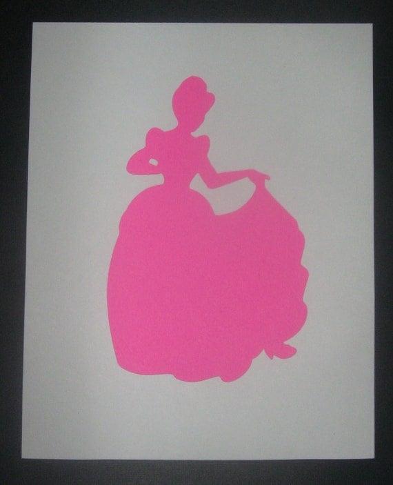 Princess Silhouette Cinderella Snow White Sleeping Beauty