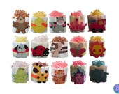 Mini Diaper Cakes - Unique Baby Shower Gift, Centerpiece, Favor cute jungle princess animals boy girl neutral custom