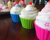 Jumbo Baby Cupcake - Receiving Blanket, Burp Cloth & Infant Washcloth baby shower gift cute unique girl boy neutral